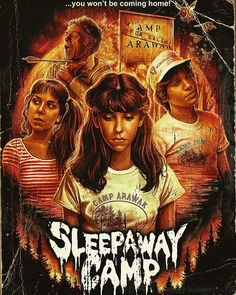 1980s Horror Movies, Horror Movie Characters, Classic Horror Movies, Scary Movies, Horror Icons, Horror Movie Posters, 80s Posters, Slytherin, Sleepaway Camp