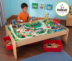 Toy Train - Kid Kraft Waterfall Mountain Train Set and Table From Vistastores