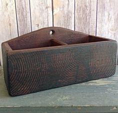 Vintage Wood Box With Divider by GrammyandGrampys on Etsy