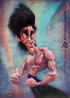 Caricatura de Bruce Lee