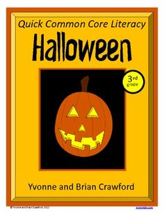 Halloween No Prep Common Core Literacy in 3rd grade - $