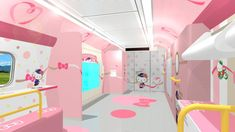 Previously, Kotaku reported that Japan is getting a Hello Kitty bullet train. All we saw was the outside. Now, we get concept art showing what inside the train looks like.
