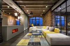 The design of this unique lofts is due to the team of MARTINarchitects. The loft is located in the capital Loft Interior, Interior Architecture, Interior And Exterior, Interior Design, Design Loft, House Design, Style Loft, Budget Home Decorating, Luxury Cabin