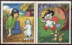Purr-n-Fur UK | The Puss in Boots story, told in stamps Paraguay 1