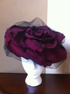 giant rose with veil
