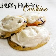 Blueberry Muffin Top Cookies | Gluten Free Recipe.  I don't know much about baking, but this is inspiring!