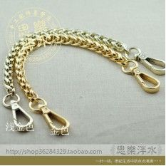 Handbag chain 1CM bag with handle short packets with models bag  twist bag chain single buy bag accessories handle (Gold 40CM a bar)