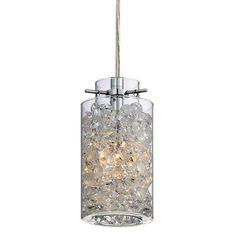 View the Platinum PCTS1503 Treasure 1 Light Mini Pendant with Glass Shade at LightingDirect.com.