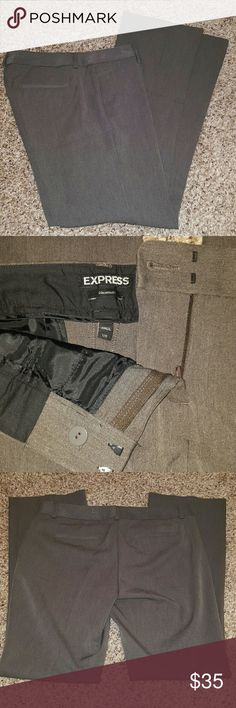 Express Columnist Pants 12R Gorgeous Heather charcoal color, worn maybe once. Excellent condition! Questions/ offers welcome! Express Pants