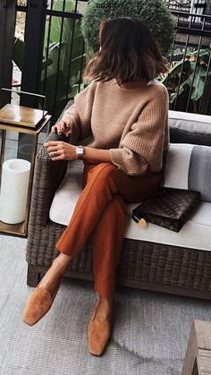 Elegant and classy knit and slacks