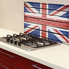 Home Decor Line Union Jack Kitchen Wall Mural