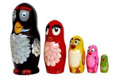 Angry Birds Nesting dolls for kids 5 dolls Matryoshka