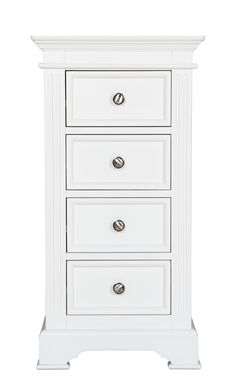 Banbury Elegance 4 Drawer Slim Chest, where a chest of drawers id needed but space wont allow, stunning in Brilliant White and Pewter Handles with Free UK Delivery at www. Contemporary Bedroom Furniture, Modern Contemporary Homes, White Sleigh Bed, Classic Drawers, Antique White Paints, White Bedroom Set, Painted Bedroom Furniture, Fashion Room