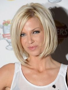 Short Bob Hairstyles For Round Faces | ... extended to face to make the more face framing and length wispy layers
