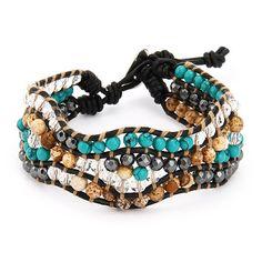 Chen Rai Mixed Gemstone Single Wrap Bracelet