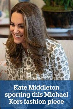 Kate Middleton rocks a Michael Kors blouse for a video call on International Men's Day