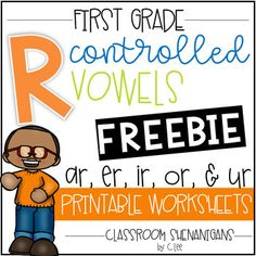 """R-Controlled Vowels / Bossy """"R"""" Packet {Word. by Classroom Shenanigans Phonics Rules, Teaching Phonics, Phonics Worksheets, Jolly Phonics, Printable Worksheets, Alpha Phonics, Teaching Resources, Teaching Ideas, R Controlled Vowels Activities"""