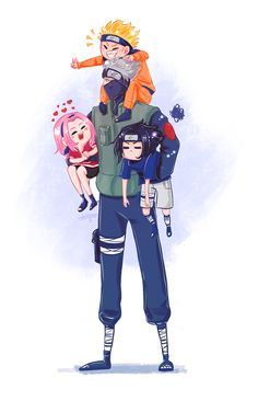 Naruto Kakashi, Naruto Team 7, Naruto Uzumaki Shippuden, Anime Naruto, Naruto Shippuden Characters, Naruto Comic, Naruto Cute, Naruto Funny, Anime Guys