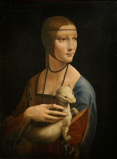 Lady with an Ermine is a painting by Leonardo da Vinci, from around 1489–1490. The subject of the portrait is identified as Cecilia Gallerani, and was probably painted at a time when she was the mistress of Lodovico Sforza, Duke of Milan, and Leonardo was in the service of the Duke.    The painting is one of only four female portraits painted by Leonardo, the others being the Mona Lisa, the portrait of Ginevra de' Benci and La belle ferronnière. It is displayed by the Czartoryski Museum…