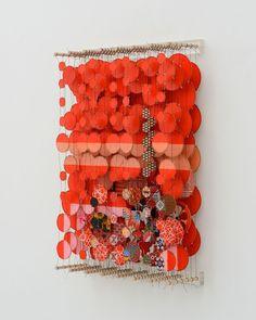 Jacob Hashimoto - Current Exhibitions - Studio La Citt-try hanging layers of transparent fabrics with appliques Artistic Installation, Art Object, Public Art, Art Sketchbook, Textile Art, Mobiles, Collage Art, Fiber Art, Sculpture Art