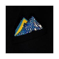 Gothic Blue Printed Silk Pocket Square - Lord Dotte