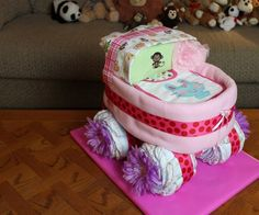 """Child showers can be a fun method to give gifts to the anticipating parents before the baby arrives. A creative gift """"The Diaper Stroller"""" that parents are sure to love this. This 'stroller' is created entirely from new diapers that your loved ones can use when the baby arrives. The stroller may also be filled with other gifts as well as decorated to give the gift an individual touch.Making A Basic Diaper Stroller1. Use size one diapers to form the strollerThere are various ways ..."""