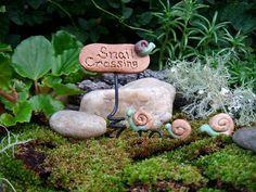 Miniatures for Fairy Gardens, Miniature Sign, Fairy Gardens Accessories, Handmade Miniatures for Fairy Gardens via Etsy