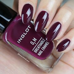 There's no glum plum when you have INGLOT Breathable 412 from the What a Spice Collection! Inglot Nail Polish, Best Nail Polish Brands, Art Tutorials, Cute Nails, Nail Colors, Swatch, Hair Care, Fragrance, Nail Art