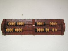One Pool or Billiard Bead Score keeper , Abacus counter , Wall mount or sits on flat surface, mid century or earlier ??? by mauryscollectibles on Etsy