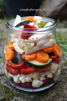 smakoterapia: KISZONE WARZYWA :D Fruit Recipes, Vegan Recipes, Slow Food, Fermented Foods, Canning Recipes, Creative Food, Easy Cooking, No Cook Meals, Food To Make
