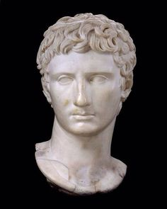 """Despite his age, Rome's Emperor Augustus was always depicted as a vibrant young man. The idealized portraits of him were kept young even after his death. #HeartArt Pictured: """"Augustus"""" (Roman Imperial Period, 1st or 2nd century A.D.)"""