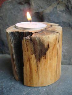 Rustic Tea Light Holder for $18.00 at etsy.com