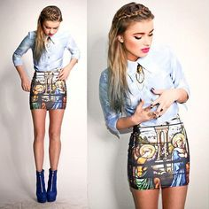 love this outfit!  #BlackMilkClothing