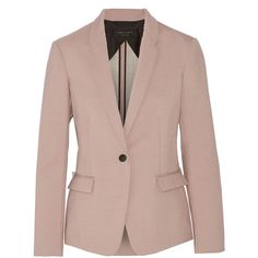 Rag & bone March poplin blazer (6 955 UAH) ❤ liked on Polyvore featuring outerwear, jackets, blazers, pink, faux jacket, brown jacket, pink jacket, rag bone jacket and pink blazer