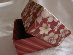 Burgundy handmade box