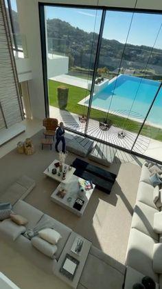 Mansion Interior, Dream House Interior, Luxury Homes Dream Houses, Unique House Design, Dream Home Design, Modern House Facades, Beautiful House Plans, Decor Home Living Room, Home Building Design
