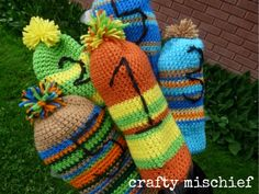 Crochet golf club covers!