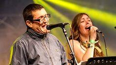 Glastonbury 2014 - Lovely friend Jacqui Abbott and Paul Heaton of The Beautiful South