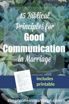Does communication with your spouse sometimes seems like a struggle? These 15 Biblical principles will help you know what, when, and how to speak to communicate well in your marriage. Includes a printable pdf! | Simply One in Marriage.