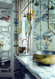 New Bathroom Marble Brass Gold Accents Ideas Neues Badezimmer Marmor Messing Gold Akzente Ide Art Deco Bathroom, Diy Bathroom Decor, Bathroom Marble, Bathroom Pink, Design Bathroom, Bath Design, Bathroom Ideas, Bathroom Tray, Marble Bath