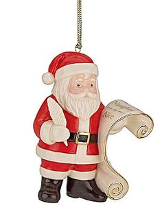 lenox christmas china ornaments naughty or nice santa - Lenox Christmas Decorations