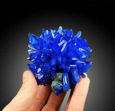 Wow ..... Electric Blue Chalcanthite On Matrix From Poland. Geology Wonders