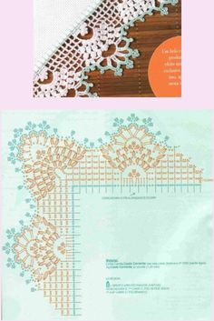 Crochet edging with graph