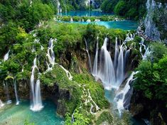 Plitvice National Park in Croatia, Europe's oldest and one of its most beautiful national parks - a network of crystal clear lakes connected by thousands of waterfalls. Description from wn.com. I searched for this on bing.com/images