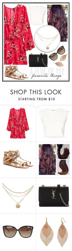 """""""A few of my favorite things"""" by luciii5430 ❤ liked on Polyvore featuring H&M, Puma, Aquazzura, Yves Saint Laurent, Linda Farrow and Bold Elements"""