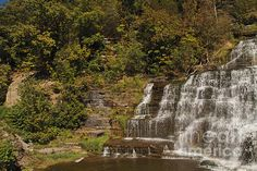 Hector Falls on Seneca Lake in the Finger Lakes region of NY by William Norton