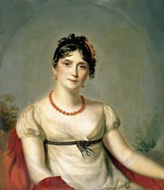 Joséphine de Beauharnais the first empress of France, wife of Napoleon, 1812.