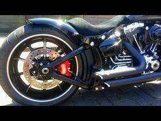 Harley Davidson Breakout V&H Short Shots - YouTube