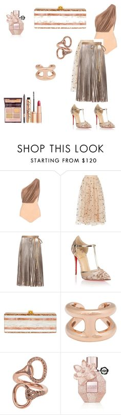 """""""So yes!"""" by albanese-carolina ❤ liked on Polyvore featuring Vionnet, Valentino, Christian Louboutin, Edie Parker, Hermès and Viktor & Rolf"""