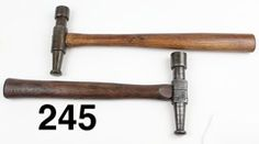 LOT OF TWO TINSMITH'S HAMMERS